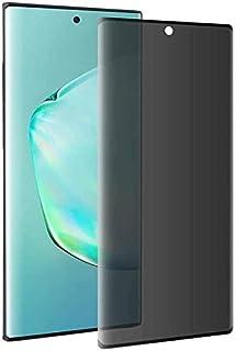 For Samsung Galaxy Note 10+ Plus Privacy Screen Protector [Privacy Anti-Spy], Anti-Glare, Anti-Scratch, Anti-Bubble, Black