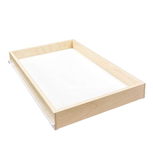 """Sliding Pull-Out Shelf For Cabinets (Kitchen Cupboards, Pantry Drawers, Bathroom Storage) 2 3/8"""" Tall - 3/4 Slides  Maryland"""