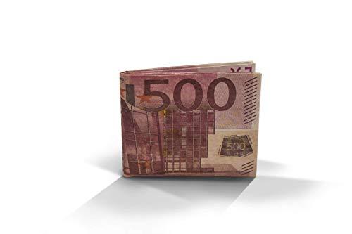 Cartera Billete 500 Euros Monedero diseño quinientos Euros Billetera Tyvek Origami