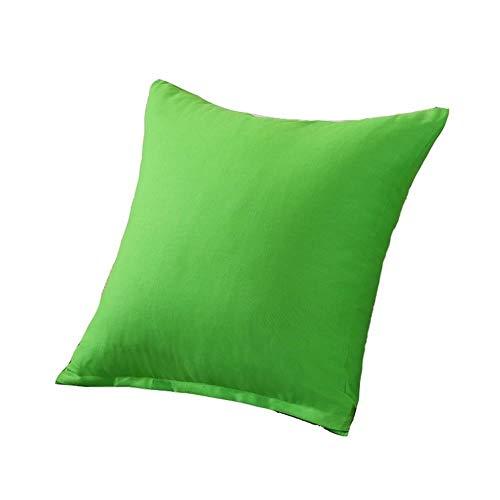 Pillow Almohadas Decorativas Cojín de Lona de algodón Puro Almohada Almohada Almohada Cintura Plaza del Amortiguador del sofá Simple con Estilo Desmontable y Lavable Accesorios de casa