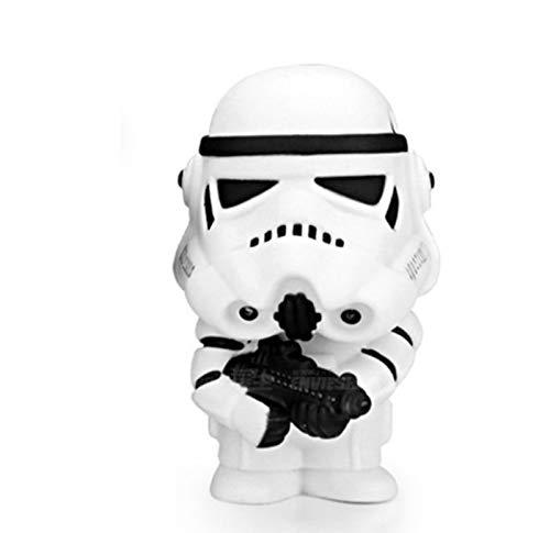 Figuras De Anime Decoración Estatua Modelo Star War Darth Vader Q Versión Sacudiendo La Cabeza Muñeca Samurái Negro Y Storm Soldier Colección Juguete,B