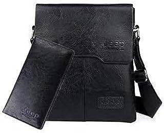 Men's shoulder bag with purse - Black