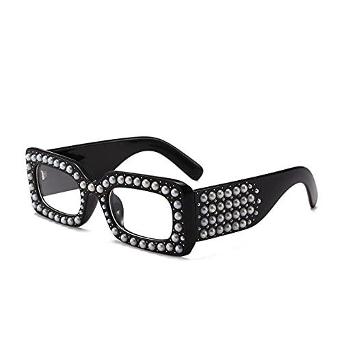 ZZZXX Gafas De Sol NiñosGafas De Sol Cuadradas Con Diamantes De Imitación Y Perlas Ciclismo Pesca Golf Running Conducción Vela Esquí, Protección Uv400,Con Caja De Regalo Y Paño Para Vasos