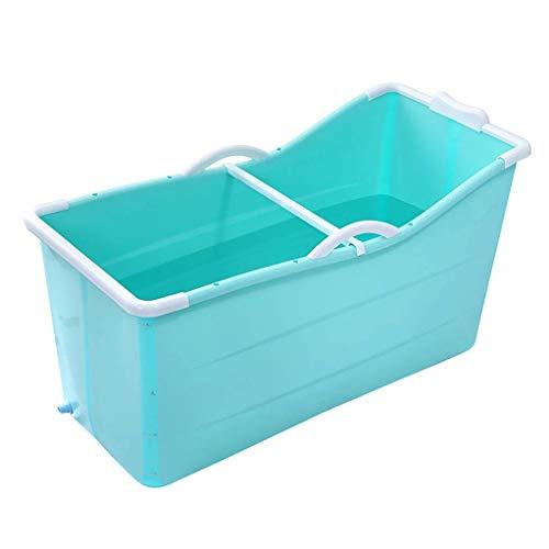CYLQ Badkuip, opvouwbaar, draagbaar, voor volwassenen, voor douchecabine, badkuip, inklapbaar, van kunststof, voor baby's, opvouwbaar, voor zwembad/vat/huishouden, groot, 117 x 52,5 x 63 cm