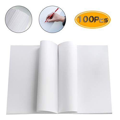 100Sheets Newbested White Watercolor Paper Cold Press Cut Bulk Pack for Beginning Artists or Students. (10 x 7 Inch) (12 x 17 INCH)