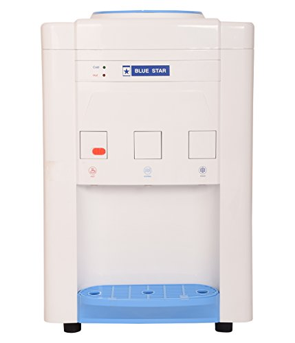 Blue Star Water Dispenser with Refrigerator (BWD3FMRGA, White)