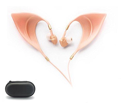 Elf Earbuds Headphones - Elegant Elves Ear Design Ultra-Soft Corded Earphone Perfect Sound Quality Fairy
