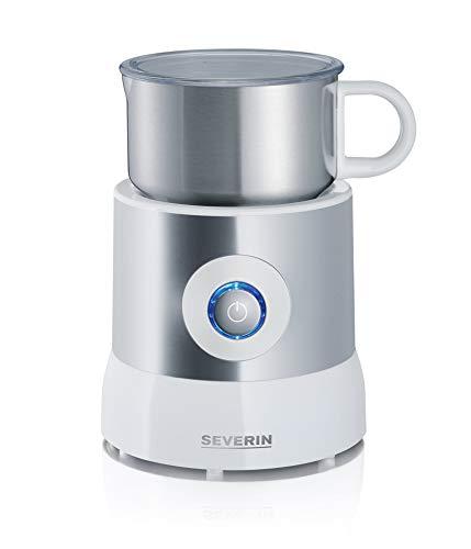 SEVERIN SM 9684 Milchaufschäumer (Erwärmen (Bis zu 500 ml) Aufschäumen (Bis zu 260 ml) Induktion) silber /weiß