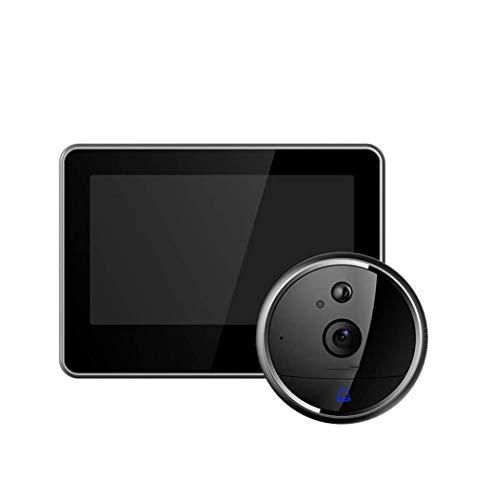 SMSOM Video Doorbell WiFi, 1080p HD Security Hogar Puerta Frontal Campana Chime, Audio de 2 vías, Detector de Movimiento, Instalación fácil, Visión Nocturna para la Seguridad del hogar