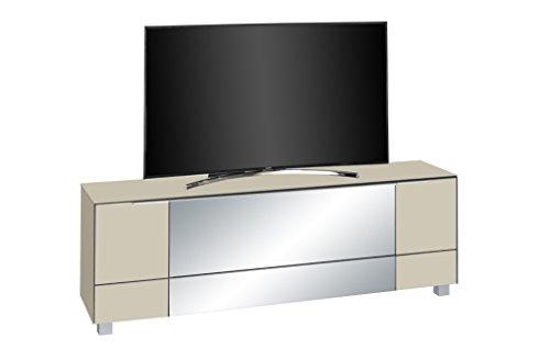 Preisvergleich Produktbild lisel-de Maja Soundboard Lowboard Maja TV-Board Glas Sand matt / Grauspiegel Soundconcept 180x60x42cm / Neues Modell!