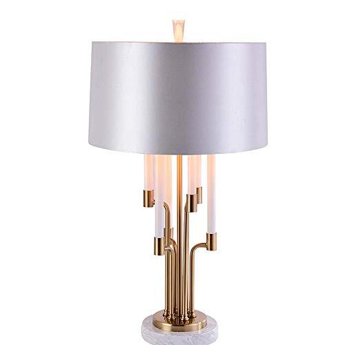 HYH Nachdem Die Amerikanischen Leuchte Luxuxmodell Haus Lichtdesigner Kreative Software Moderne Marmortisch Schlafzimmer Nachtbeleuchtung 42 * 75cm Installiert Schön leben (Farbe : A)
