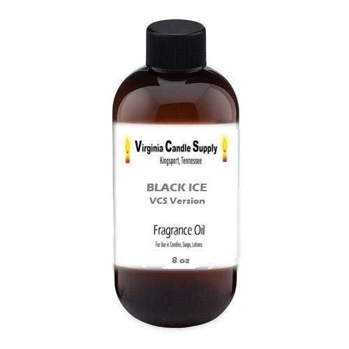 Black Ice Type Fragrance Oil (8 oz Bottle) for Candle Making, Soap Making, Tart Making, Room Sprays, Lotions, Car Fresheners, Slime, Bath Bombs, Warmers