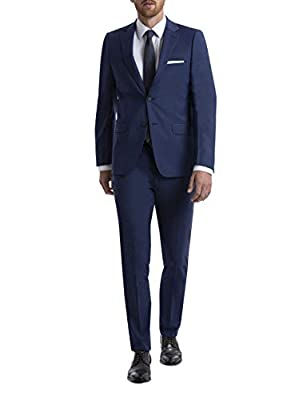 Calvin Klein Men's Skinny Fit Stretch Suit Separates – Custom Jacket & Pant Size Selection, Blue, 36R from Calvin Klein