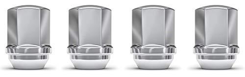 White Knight 1709D-4 Chrome Duplex Bulge Lug Nut for Chevy/Dodge/Chrysler - 4 Piece
