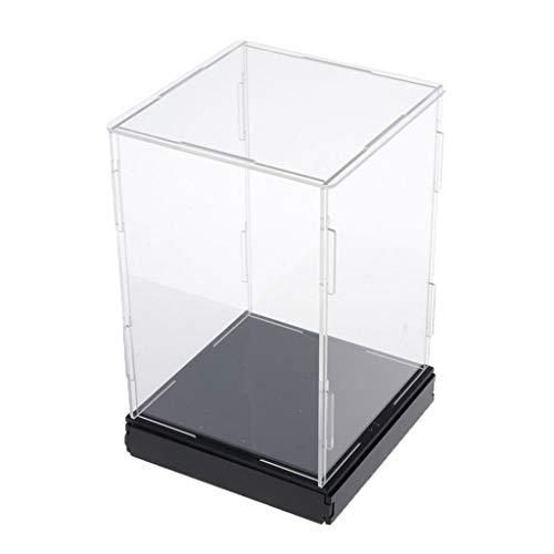 SDENSHI Vítrina de Exposición de Acrílico Transparente Caja de Presentación Antipolvo Estuche de Protección para Mini Figuras -  10x10x20cm