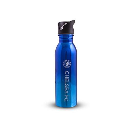 Chelsea F.C. 700 ml in acciaio inox con rivestimento UV, bottiglia sportiva, blu