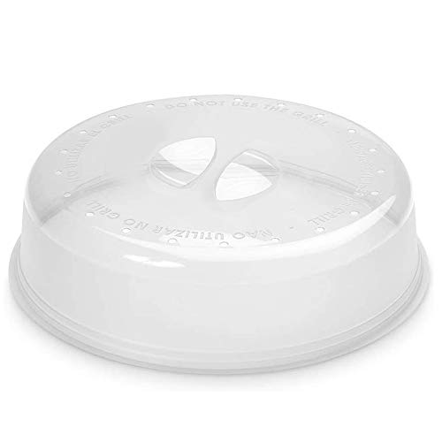 Space Home - Coperchio per Microonde - Campana per Microonde - Coperchio per Microonde in Plastica Resistente - Trasparente - 26 cm