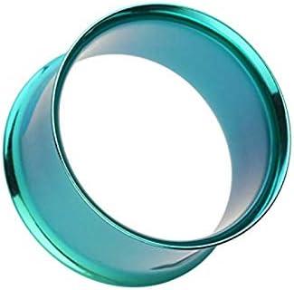 Covet Jewelry Colorline Steel Double Flared Ear Gauge Tunnel Plug