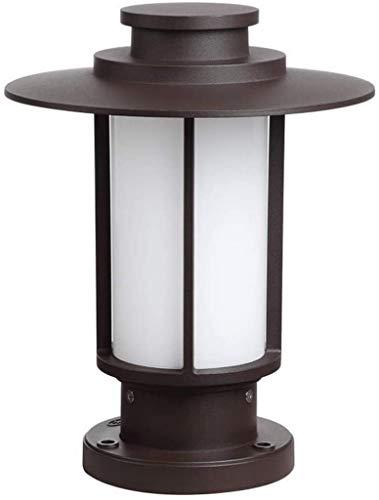 IP55 Impermeable a prueba de lluvia Lámpara de columna al aire libre Linterna Puerta de patio vintage antigua Puerta de pilar de metal marrón Luces de poste de pilar de jardín comunitario Parque comu