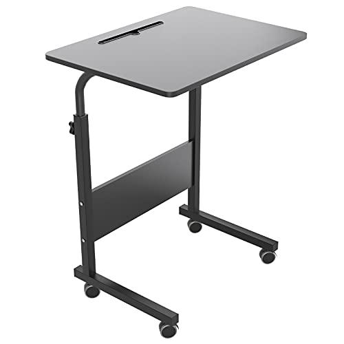 SogesHome Mesa de Ordenador Portatil60 * 40cm con Ranura para Tableta,Escritorio de Altura Regulable,Mesa Auxiliar portátil para sofá Cama,05#3-60BK-SH-1