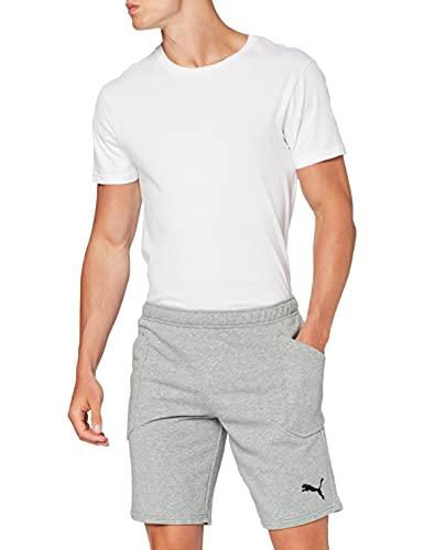 PUMA Liga Casuals Shorts, Pantaloni Tuta Uomo, Medium Gray Heather/Black, L