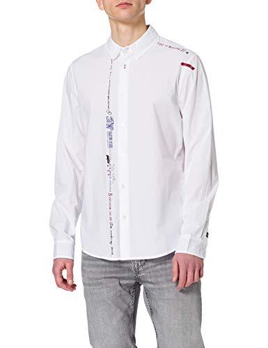 Desigual CAM_ADELMO Camiseta, Blanco, XXL para Hombre