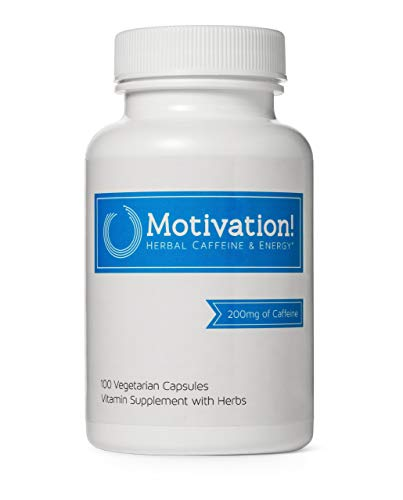 Motivation Herbal Caffeine Pills with B-Vitamin...