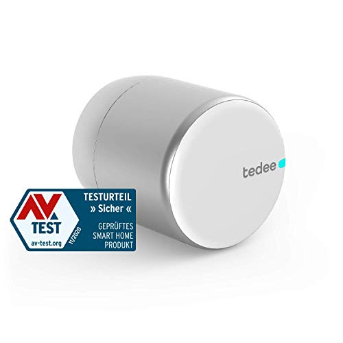 tedee Lock, Elektronisches, smartes Türschloss   einfach nachrüstbar   Steuerung via Bluetooth, intelligente Zutrittsverwaltung aus der Ferne per App   akkubetrieben   iPhone & Android   Smart Home