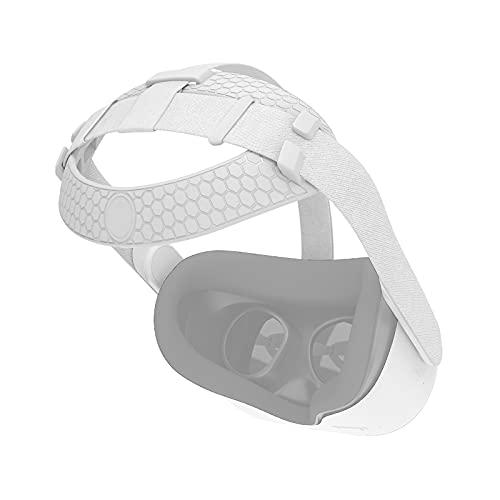 Oneforus Reemplazo Almohadilla para la Cabeza Compatible con Oculus Quest 2 Auriculares VR, Reducir Presión en la Cabeza Venda Accesorios de Soporte