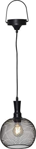 BestSeason LED Solar Lampe hängend schwarz 19x24cm 481-70 Outdoor für Garten Terrasse Balkon Hängeleuchte