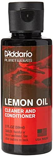 D'Addario Zitronenöl zur Griffbrettpflege für Gitarren | HÖCHSTE QUALITÄT DER BELIEBTESTEN ZUBEHÖRMARKE WELTWEIT | PW-LMN | Lemon Oil