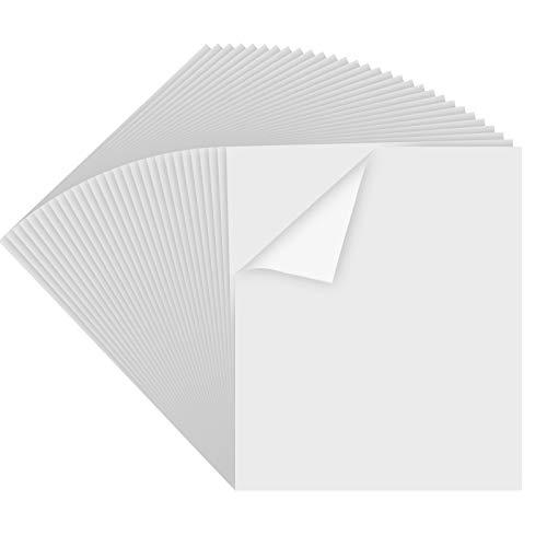 """Printable Vinyl for Inkjet & Laser Printer - 30 Pack Printable Vinyl Sticker Paper Glossy White - Standard Letter Size 8.5""""x11"""""""