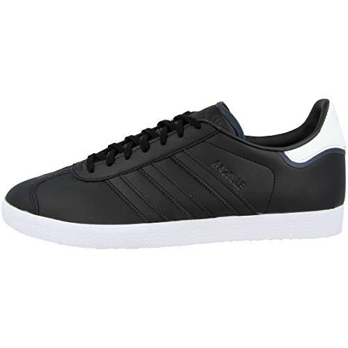adidas Herren Gazelle Sneaker, Schwarz/Weiß (Core Black Cloud White), 43 1/3 EU