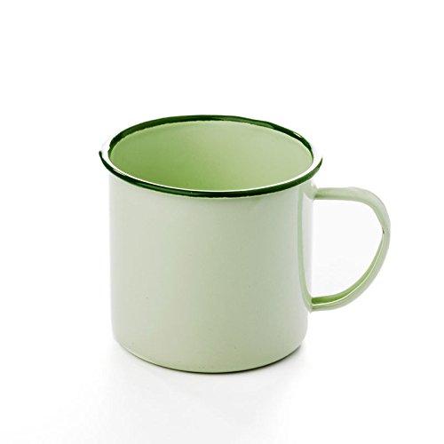 FANMEX - Fantastik - Set 2 tazas esmaltadas verde 9 cm