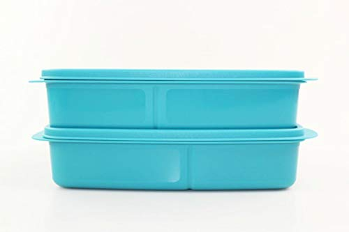 Tupperware to Go Lunchbox 1 L dunkeltürkis mit Trennwand Clevere Pause (2) 35112