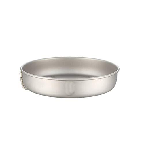 Qiyuezhuangshi01 Pan, padella in titanio puro da 8.8 pollici, fondo piatto in Wok antiaderente, bianco argento,Pentola multiuso (Color : Silver)