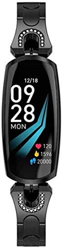 Nuevo reloj inteligente para mujer, ritmo cardíaco, presión arterial, pulsera inteligente para pulsera de actividad física, reloj inteligente para Android iOS, color negro