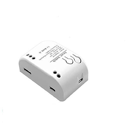 MHCOZY - Interruttore a relè wireless Smart WiFi a 1 canale, USB 5 V AC/DC 7-32 V, Smart Life, con telecomando per Alexa Google Home (1)