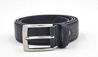 Made In Italy diversi colori e taglie disponibili goffrata coccodrillo MYB Cintura uomo in Vera Pelle altezza 35 mm
