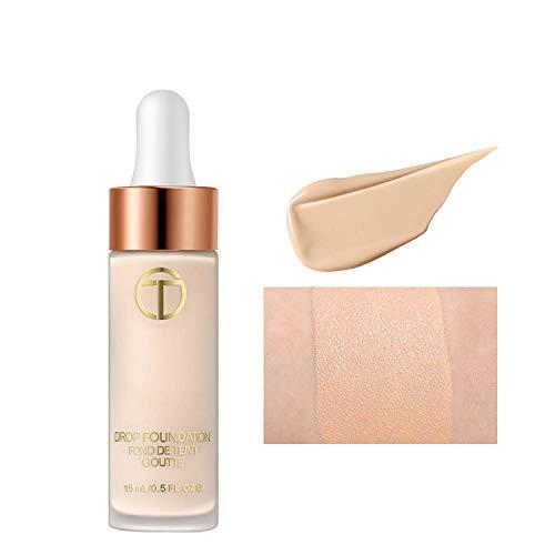 Base de maquillaje líquida adecuada para pieles beige naturales. Crema base impecable, efecto sensación hidratada e ingrávida, beige natural, 15 ml (02 natural)