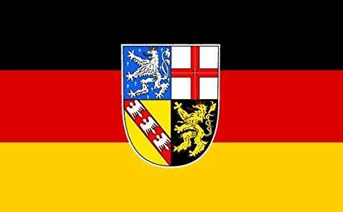 Gsixgoods 3x5 FT Saarland Flagge groß? C? 100% Polyester? C? Metall?? C? Doppelt genäht