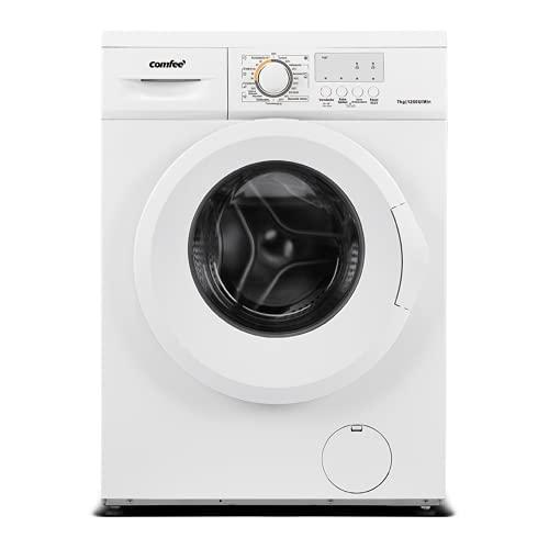 Comfee CFEW70-124 Waschmaschine / 7KG / Slim Line / D / 1200 U/min / Trommelreinigung / 15min-30min-45min Schnellwaschgang / AquaStop