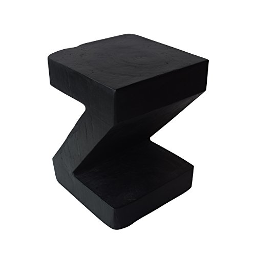 Christopher Knight Home Ligia Light-Weight Concrete Accent Table, Black