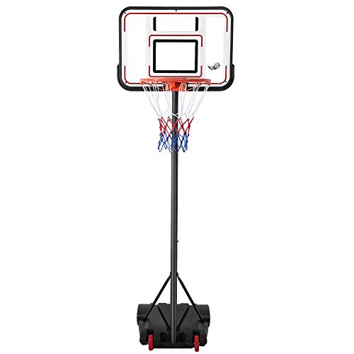 JUNDOG Portable Basketball Hoop with 30' PVC Backboard,Height Adjustable 6.5ft -8ft Basketball...