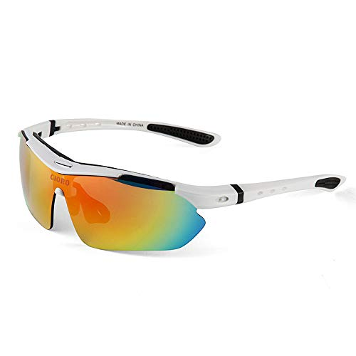 GIORO Polarized Sports Sunglasses with 5 Interchangeable Lenses for Cycling Fishing Driving...