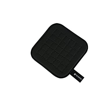 San Jamar UHP77BK Ultigrip Square Commercial Hot Pad Pan Holder, 7  X 7 , Black