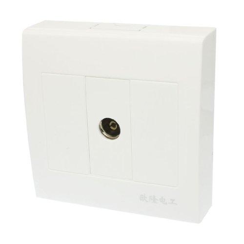 Aexit 1-fach quadratische TV-Steckdose flächenbündig, koaxiale Steckdose AC 250V (846d1483bbbee8522578cd8495bed925)