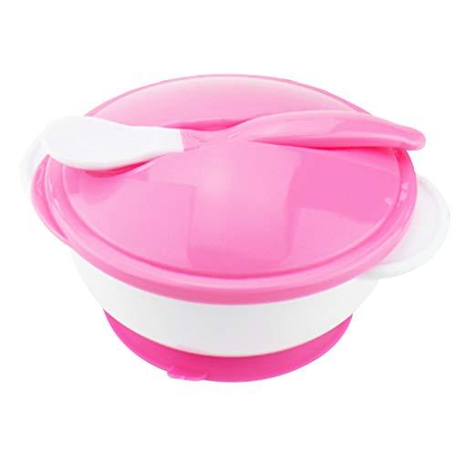 Aiming Alimentación del bebé Tazón con Platos de Bombas y de Temperatura detecta la Cuchara Copa de succión del tazón de Fuente del vajilla para niños Kids