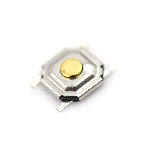 Kfdzsw Micro Interruptor 20pcs Impermeable 4 * 4 * 1.5mm SMD 4pin Touch Touch Switch SMD4 ON/Off Botón táctil Toque Micro Interruptor 4 * 4 * 1.5 Teclas Botón (Color : Beige)