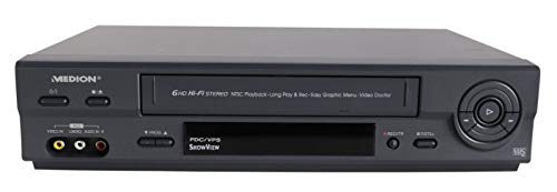 Medion MD 42277 VHS Videorekorder, antrazith